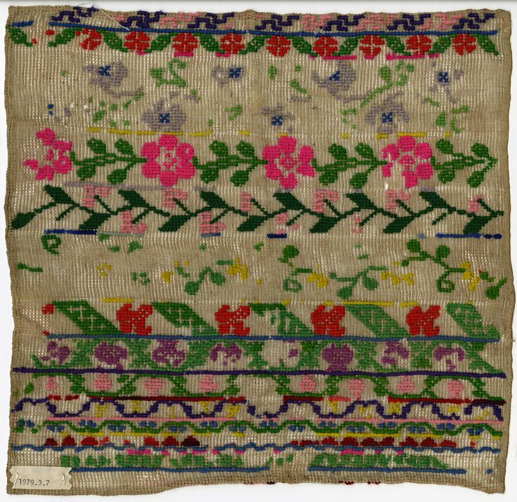 Floral embroidery. Date unknown. (thedesigncenter via barsan)