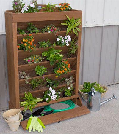 Easy Tips for Saving Time and Money on a Cedar Vertical Planter, Plus Video on How to Build Your Own DIY Vertical Garden. http://easyverticalgardening.com/7-level-garden-planter/
