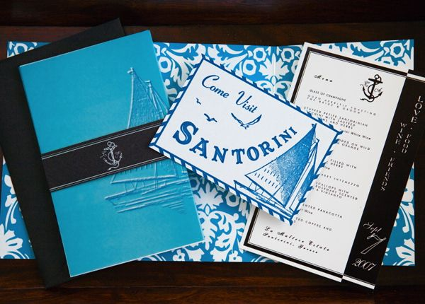 22 best akmj wedding invitations images on pinterest modern sweet santorini inspired invitations by alchemy fine events destinationinvitations themewedding stopboris Image collections