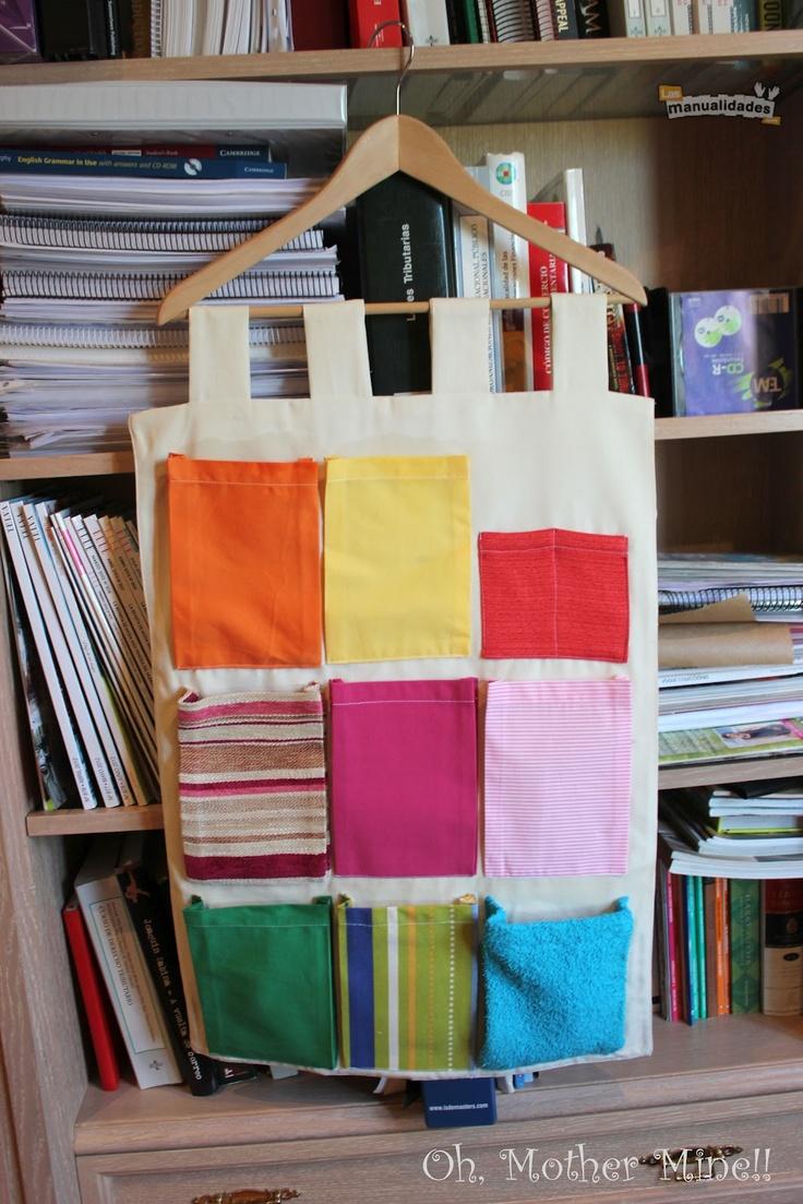 Blog de costura. Tutorial Tapiz organizador portátil con bolsillos, para guardar zapatos, juguetes o como costurero.