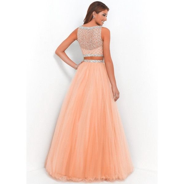 Beautifu Hot Long Orange Two Piece Prom Ball Dress Women Bead Tulle... ($126) ❤ liked on Polyvore featuring dresses, 2 piece prom dresses, long maxi dresses, orange prom dresses, two piece prom dresses and prom dresses
