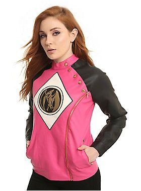 Go, go, Power Rangers! // Mighty Morphin Power Rangers Pink Ranger Moto Jacket
