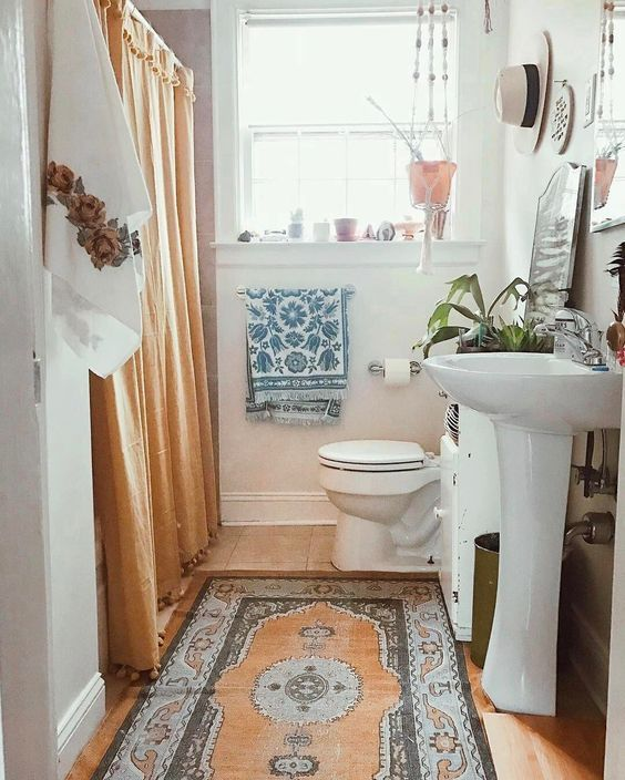 Best Bohemian Bathroom Ideas On Pinterest Boho Bathroom - Bathroom mats for bathroom decorating ideas