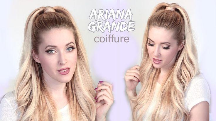 Tuto coiffure de Ariana Grande ★ Demi queue de cheval volumineuse