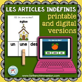 Articles indéfinis: French indefinite articles practice |