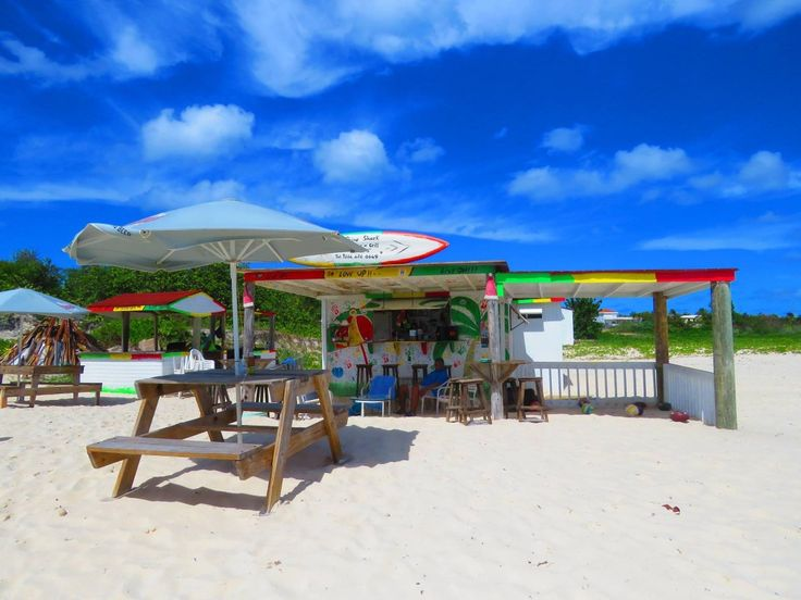 View of Garvey's Sunshine Shack, Rendezvous Bay, Anguilla.