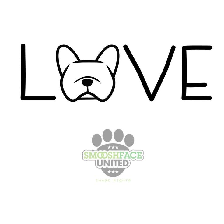 French Bulldog decal vinyl sticker - Frenchie love text with dog ...