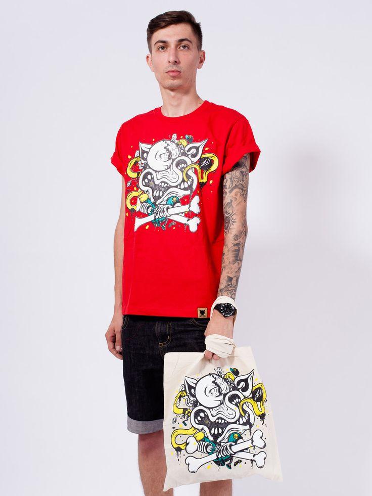 """RO X PORC – """"Bone Crusher"""" Ltd. Tote Bag"""