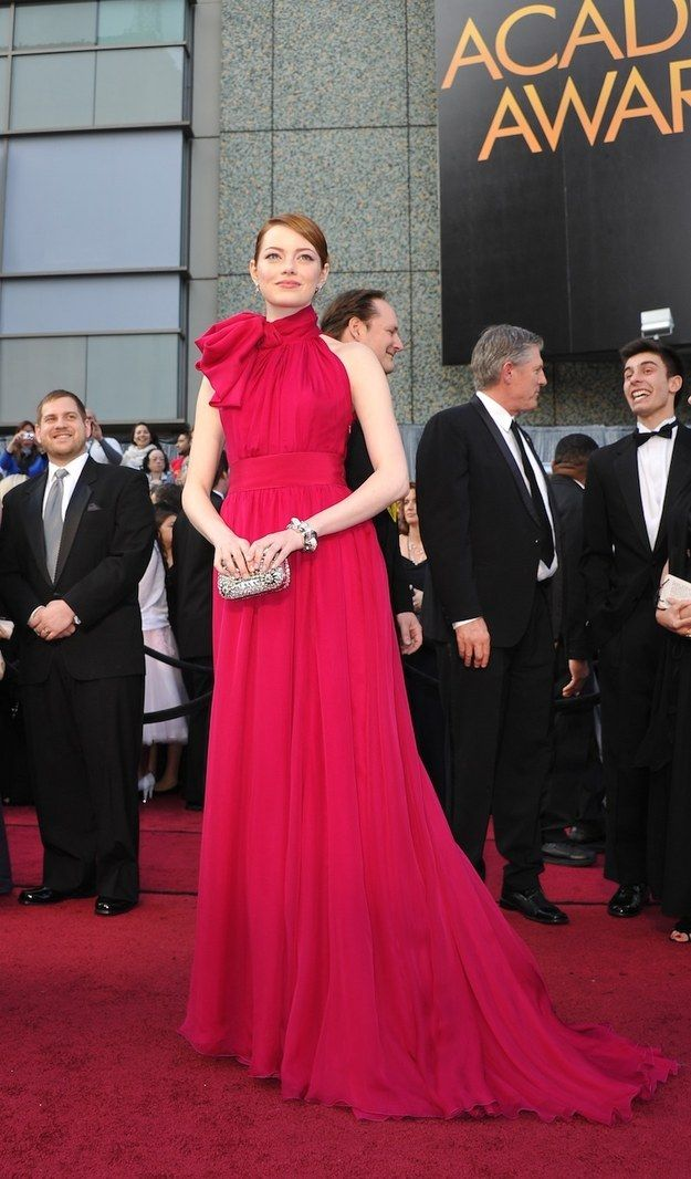 What about this incredible red gown that makes her look like the best present ever? | 31 Photos That Prove Emma Stone Is The Most Stylish Person On Earth