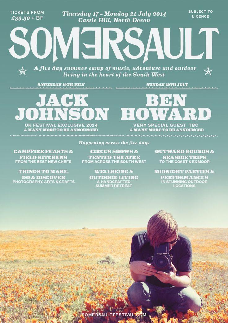 Line Up | Somersault Festival | 17 - 21 July 2014 | North Devon