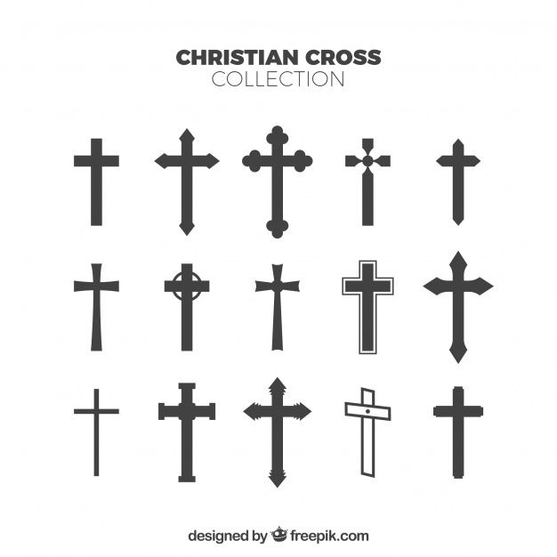 Silhouette christian cross collection. Download thousands of free vectors on Freepik, the finder with more than a million free graphic resources
