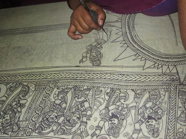 KALAMKARI - JAYANTH KALAMKARI DESIGNS: Pen Kalamkari Painting Process