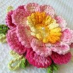 Flor carisma passo a passo | Croche flower pattern