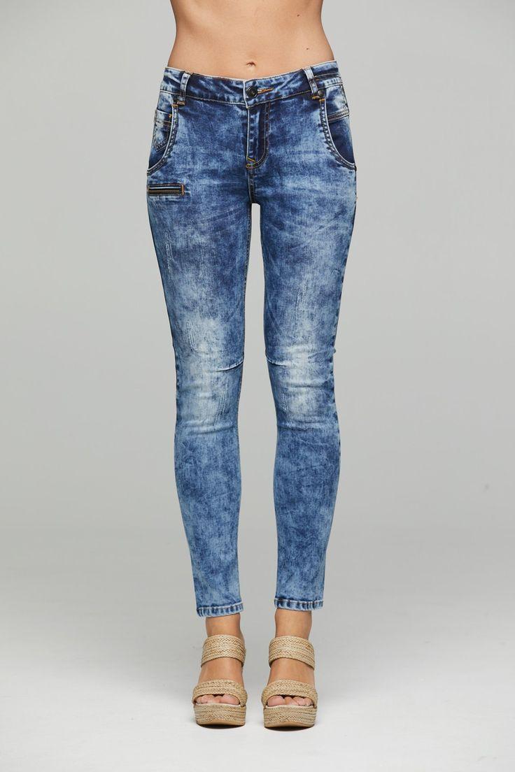 New London - Jarrow Wash Denim Jeans - Colour: Water