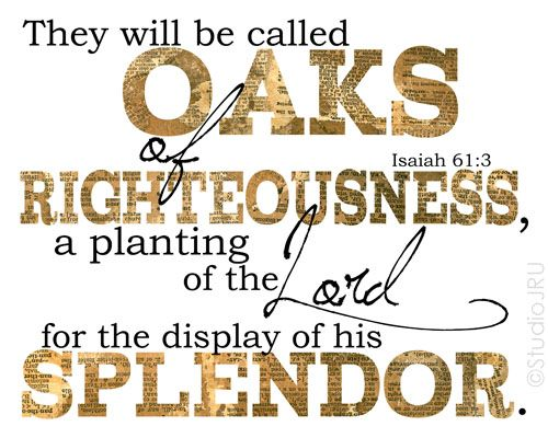 11x14 Gallery Wrapped Canvas Print Oaks Of Righteousness Scripture Art | StudioJRU - Mixed Media on ArtFire