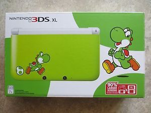 a new nintendo 3ds xl yoshi limited edition green white handheld system console