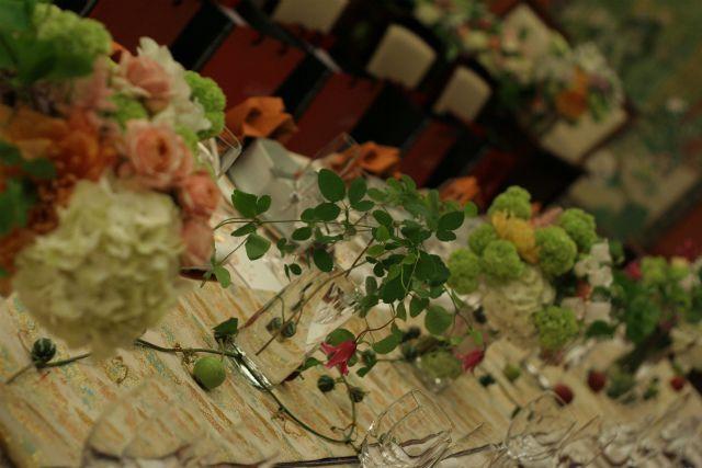 和婚の装花 目黒雅叙園様へ