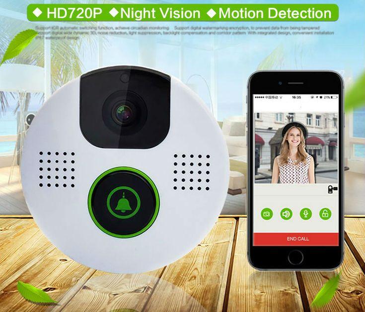 Wireless Wifi Video Door Phone Doorbell Night Vision Intercom System HD 720P With Music indoor doorbell +8GB TF Card Support APP