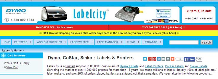 Dymo, CoStar, Seiko : Labels & Printers