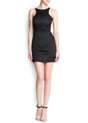 Bodycon dress crafted in a textured elastic fabric, round neck, racer cut at front and back, exposed side zip fastening. Gofre  74% polyester; 25% cotton; 1% elastaneLining: 100% polyester  Do not bleach, Ironing max 110°c / 230ºf, Machine washing max 30°c / 85ºf short spin dry, Dry cleaning perchloroethylene, Do not tumble dry  Bodycon dress crafted in a textured elastic fabric, round neck, racer cut at front and back, exposed side zip fastening. Gofre