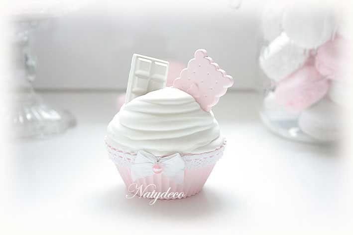 Cup cake en plâtre NATYDECO  En vente sur mon site http://www.natydecocorse.com
