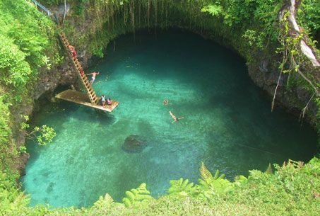 To Sua Ocean Trench Samoa, South Pacific