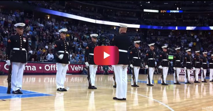 Watch the U.S. Marine Corps Silent Drill Platoon absolutely bring down the house. The precision and grace is simply unmatched.