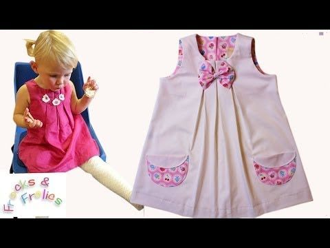 Patron/tuto robe - Création d'une robe à plis étape par étape - YouTube