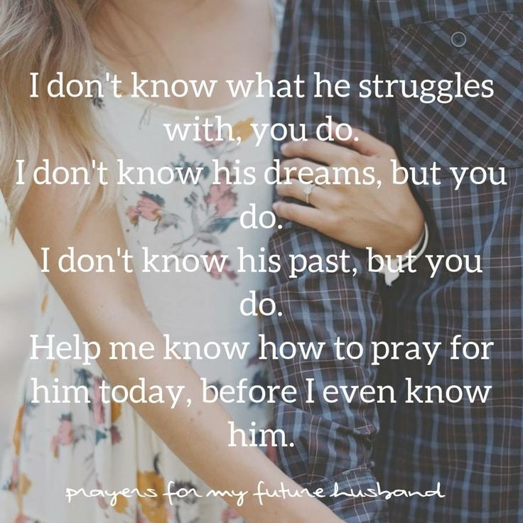 Praying for your future husband. #Day1