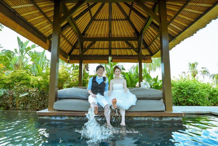 Wedding photo session in Ayana villa, Jimbaran