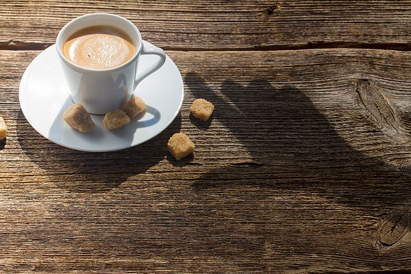 Shadow of hand taking cup of coffee by Anastasy Yarmolovich #AnastasyYarmolovichFineArtPhotography  #ArtForHome #Food #Drink