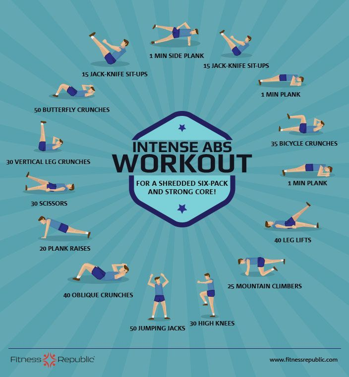 Whittle your waist and get ripped Abs with this intense workout routine! Give this intense abs routine a try for a solid six-pack and define your core with these abs exercises.