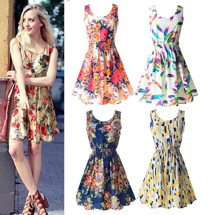 2.68$ (Buy here: http://alipromo.com/redirect/product/olggsvsyvirrjo72hvdqvl2ak2td7iz7/32764050293/en ) Summer Fashion Women Sexy Chiffon Sleeveless Sundress Beach Floral Tank Mini Dresses for just 2.68$