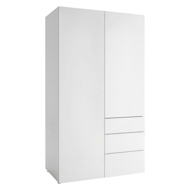 PEROUSE White 2 door wardrobe.