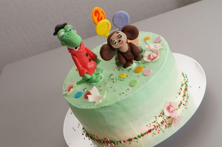 чебурашка и крокодил гена #торт_на_заказ_кременчуг #мульт_герои #бисквитный_торт