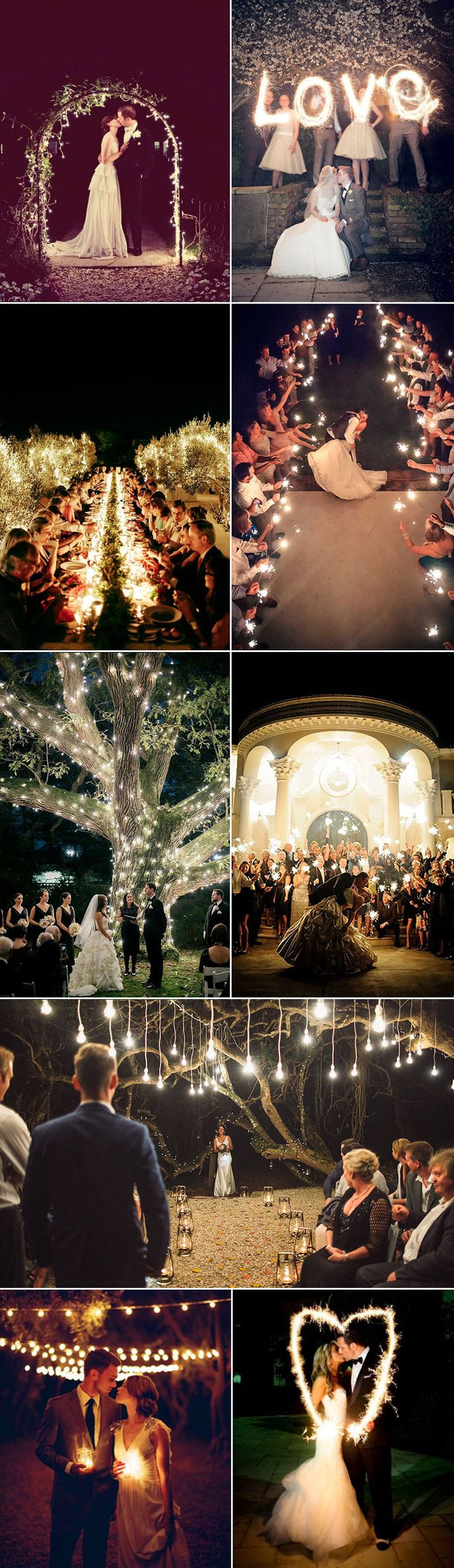 There is something so dramatically romantic about night time weddings. Imagine a night of candlelit conversations, hands full of sparklers, fireworks, bonfires and all the people you love under the moonlit sky