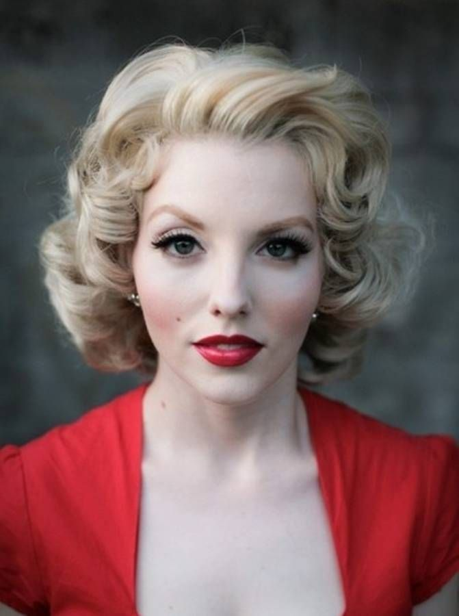 vintage 50s formal hairstyles for medium hair curly hair pinterest