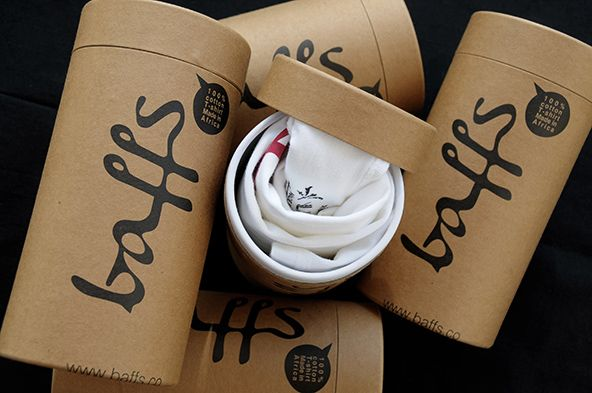 Baffs - 25 Cool T-shirt Packaging Design Examples