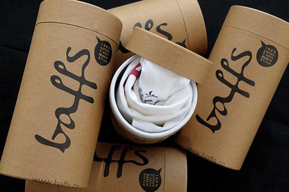 Baffs - 25 Cool T-shirt Packaging Design Examples