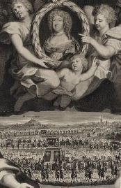 MARIE-THÉRÈSE D'AUTRICHE, Queen of France carried by angels
