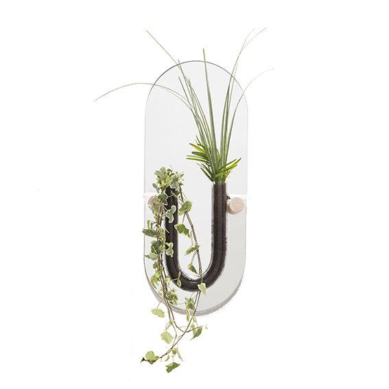 You-Tube wall vase / small / clear by Van Tjalle en Jasper, an Amsterdam based Dutch Design label.
