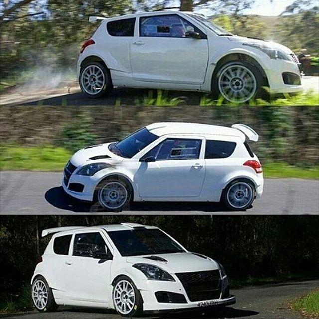 New Suzuki Swift R+ made by AR Vidal in Galicia, Spain . 4WD & 1.6 turbo engine  #rally #suzuki #suzukiswift #rallycar #beast #suzukirepsol #cera #arvidal #swift #spain #apsracing #ig_rally #ilikerally #iloverally_ Thx for the pic @life_is_rally_