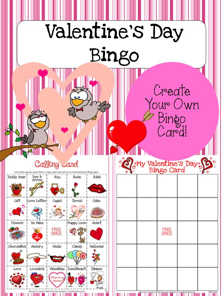 valentine's day bingo printable cards