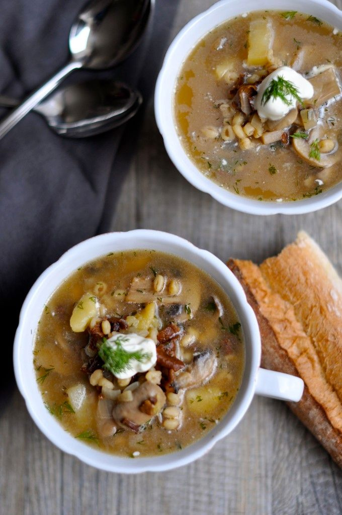 In this hearty and healthy soup you can use barley or farrow or even rice. It is finished off with lemon, dill and sour…