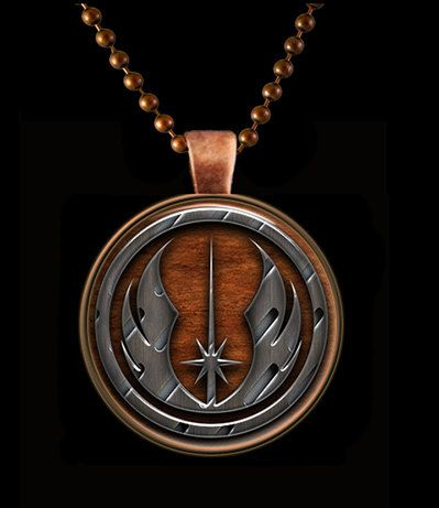 Star Wars Jedi Order Glass Pendant set in Copper by Keukasigns, $9.50