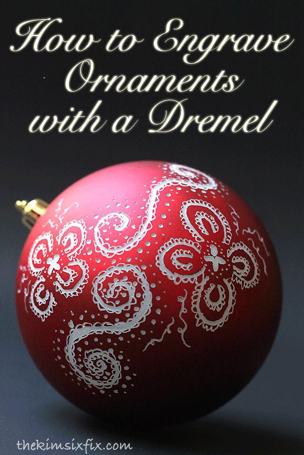 Engraved and Illuminated Ornaments (Dremel Video Tutorial), Kerstmis, goedkope plastic kerstballen graveren, decoreren met een Dremel