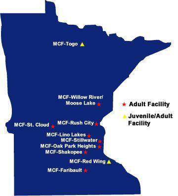 Minnesota Department Of Corrections Prison Facilities · Department Of  CorrectionsPrisonSchoolCriminal JusticeMinnesotaSchools