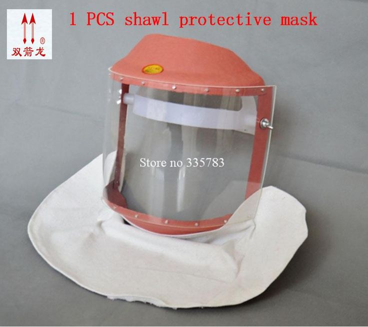 [Visit to Buy] High quality safety mask PC material welding spraying protect mask striking resistant anti sling full face safety masks #Advertisement
