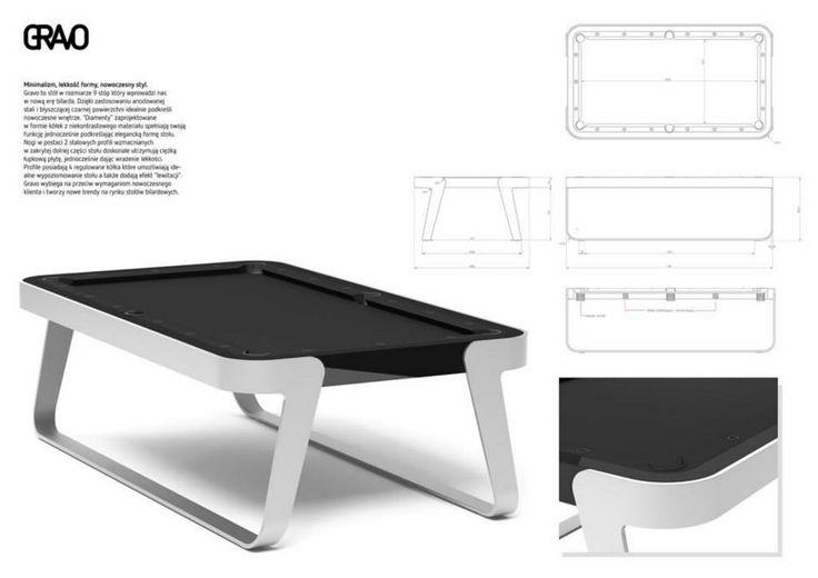 """Konkurs """"Projekt nowoczesnego stołu bilardowego"""" Lissy. Wyróżnienia: Wojciech Stadnicki """"Gravo"""""""