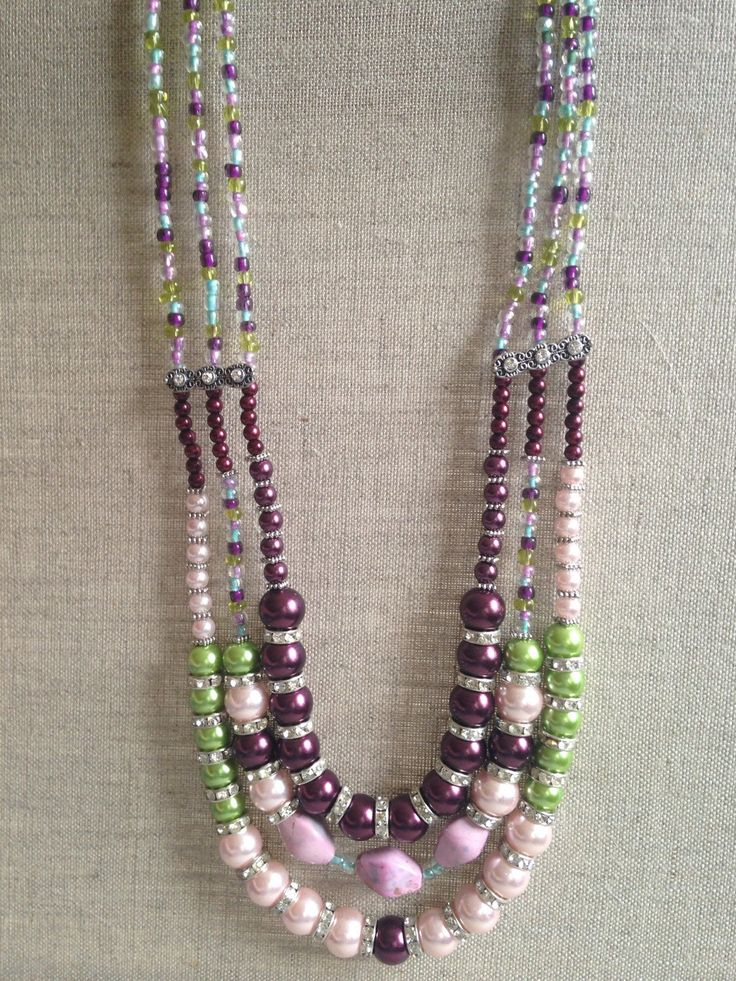 A personal favorite from my Etsy shop https://www.etsy.com/listing/250818014/purple-green-pink-and-light-blue-pearls